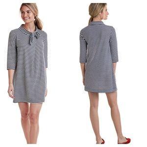 Vineyard Vines Bow Neck Striped Knit Dress